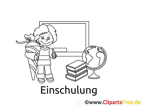 Ausmalbild EInschulung, Schule, Unterricht