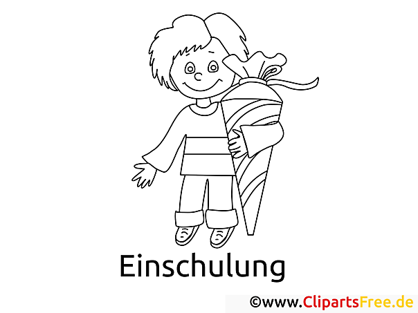 Kind in der Schule Malvorlage
