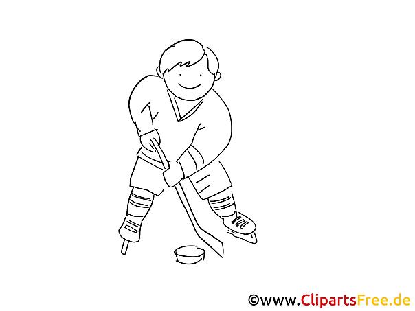 Eis-Hockey Malvorlage Wintersport