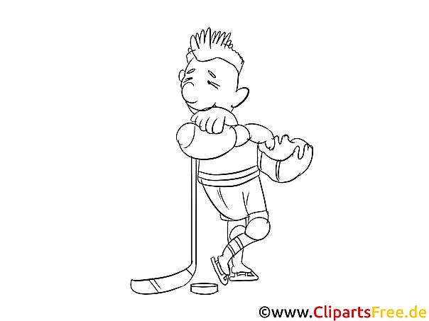 Eishockeyspieler Malvorlage Coloring And Malvorlagan