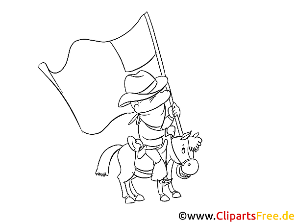 4th July Colouring Page