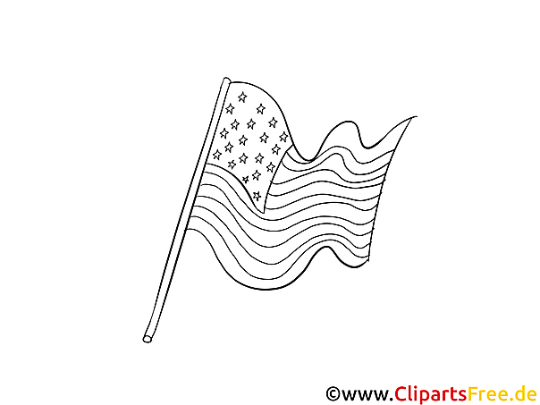 American flag - 4th July colourings