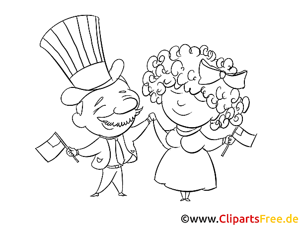Fourth of July Colouring Page free