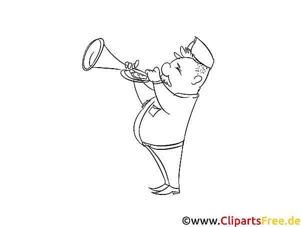 trompeter ausmalbild  vorlagen zum ausmalen und