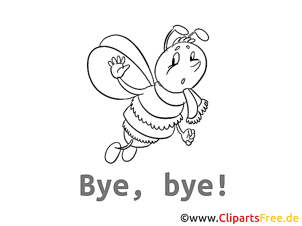 Bienchen Ausdruckbild kostenlos zum Ausmalen