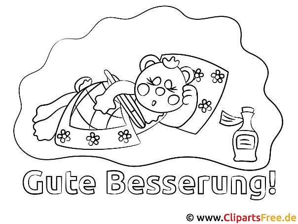 Schweinchen schläft Gute Besserung Ausmalbilder gratis für Kinder