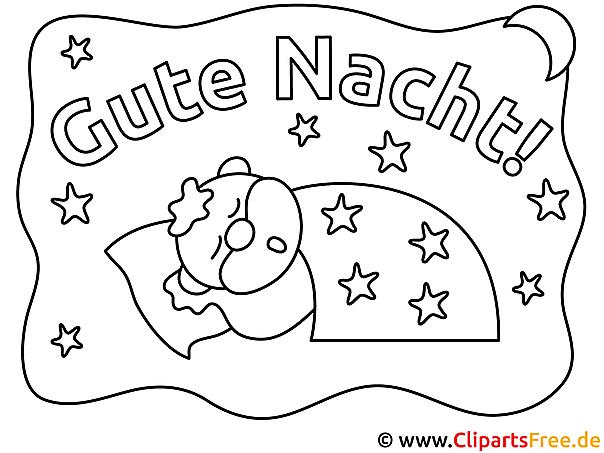Schlaf Gute Nacht Ausmalbilder kostenlos