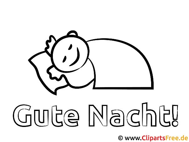 Schlafen Guten Nacht Malvorlagen kostenlos für Jung und Alt