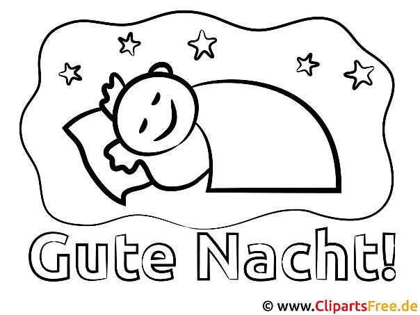 Schlafender Junge Gute Nacht Malvorlagen und kostenlose Ausmalbilder