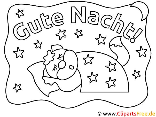 Träume Gute Nacht Ausmalbilder kostenlos