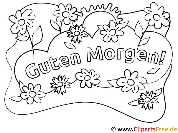 Blumen Guten Morgen Ausmalbilder kostenlos
