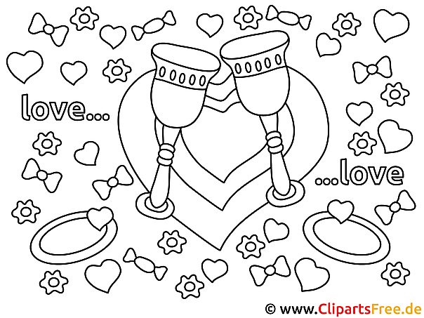 Herzen Verlobung Malvorlagen und kostenlose Ausmalbilder