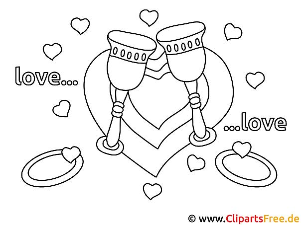 Liebe Verlobung Malvorlagen und kostenlose Ausmalbilder