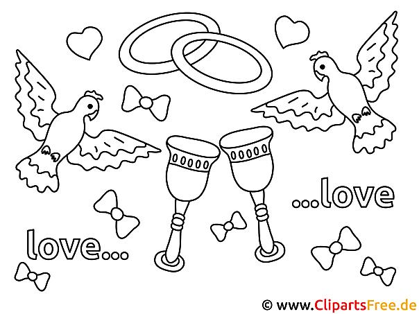 Vögel Verlobung Malvorlagen und kostenlose Ausmalbilder