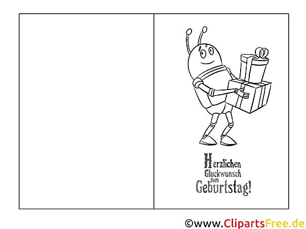Ausmalbilder Geburtstag 63 : Gro Gl Ckwunschkarte Zum Ausmalen Galerie Framing Malvorlagen