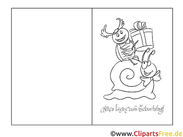 Schnecke Käfer Vorlage Grusskarte Zum Ausmalen Und Drucken
