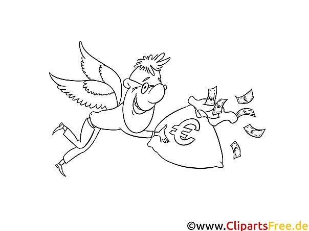 Business-Engel, Investor Bild-Malvorlage zum Drucken