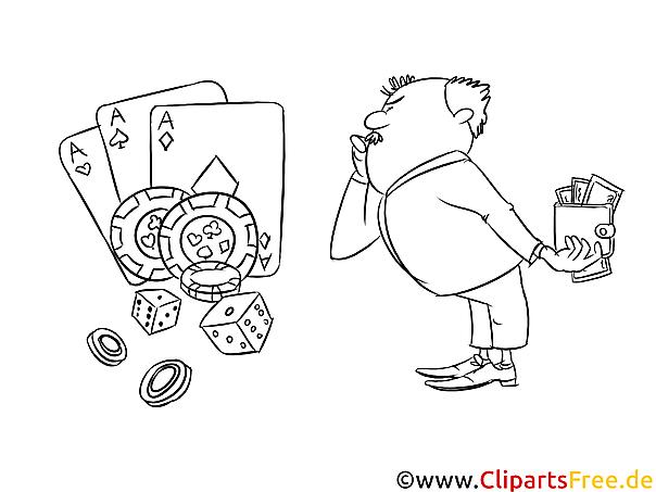 Ausmalbild im Casino