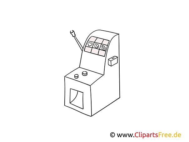 Casino Automat Bild zum Ausmalen