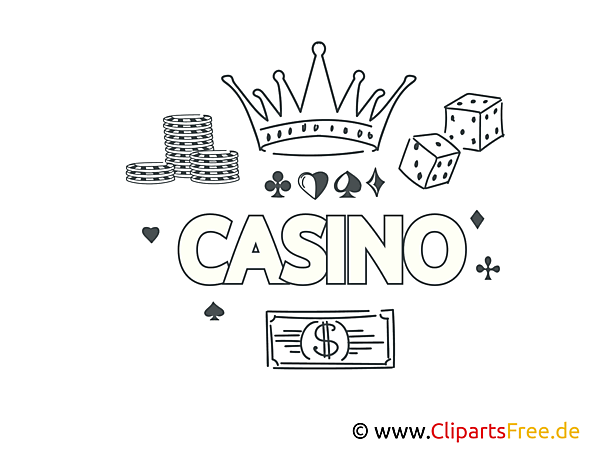 Casino black and white printing free