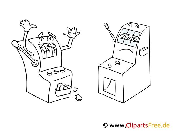 Comic Spielautomaten - Casino Bilder zum Ausmalen