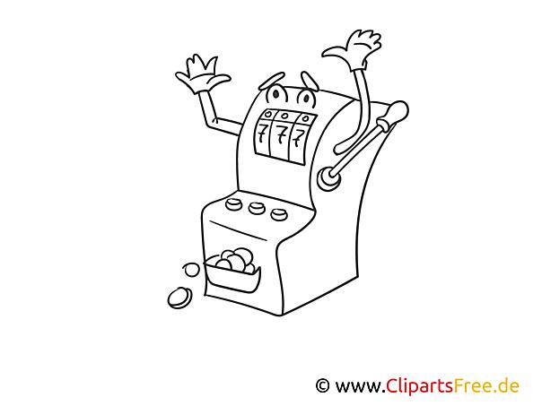 Spielautomat - Casino Bilder zum Ausmalen