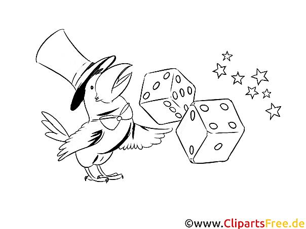 Würfel spielen Casino Bilder zum Ausmalen