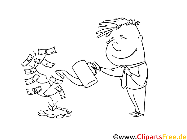 Geldbaum Bild zum Drucken und Ausmalen
