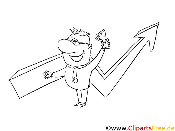 Sales Manager Bild-Malvorlage zum Drucken