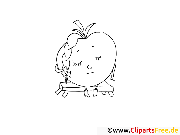 Apfel Malvorlage gratis zum Herunterladen und Ausmalen