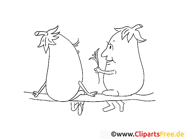 Auberginen Bilder zum Ausmalen