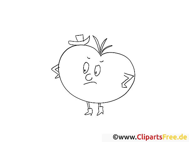 Cartoon-Apfel Malvorlage gratis zum Herunterladen und Ausmalen