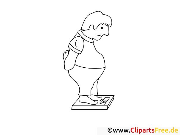Mann mit Übergewicht Malvorlagen und kostenlose Ausmalbilder