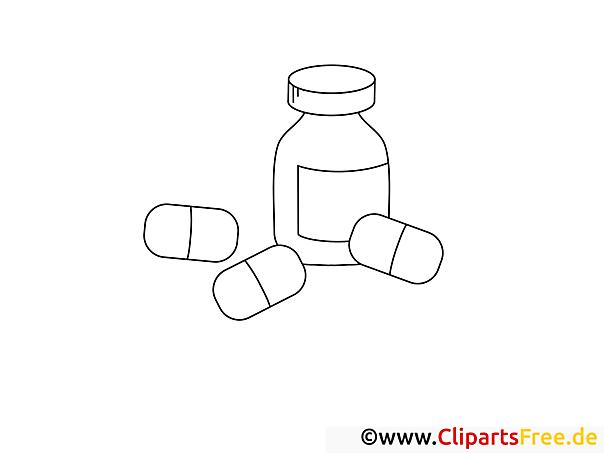 Medizin Pillen Ausmalbilder zum Ausdrucken
