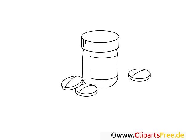 Tabletten Bild zum Malen