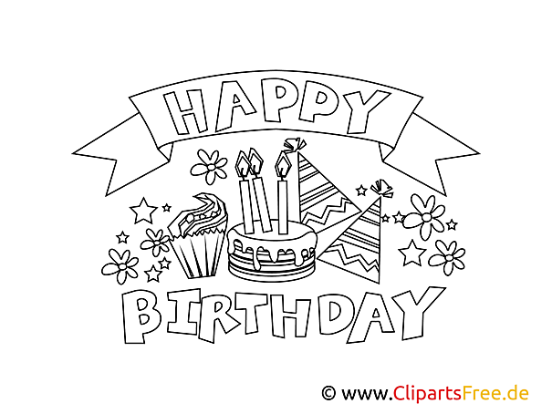 Birthday Colouring Page