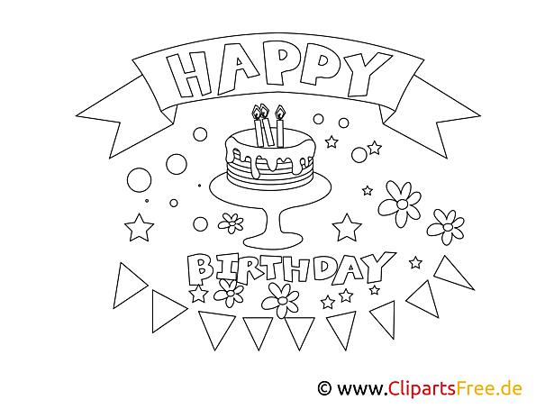 Boyama Sayfası Doğum Günün Kutlu Olsun