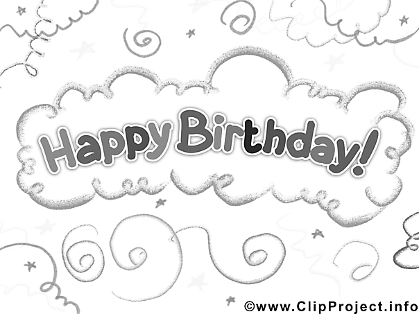 Gratis Coloring Sheet Birthday