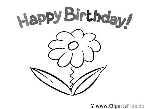 Happy Birthday - Malvorlagen für Kinder