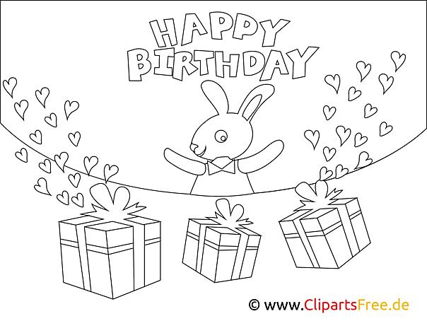 Happy Birthday kolorowanki urodziny