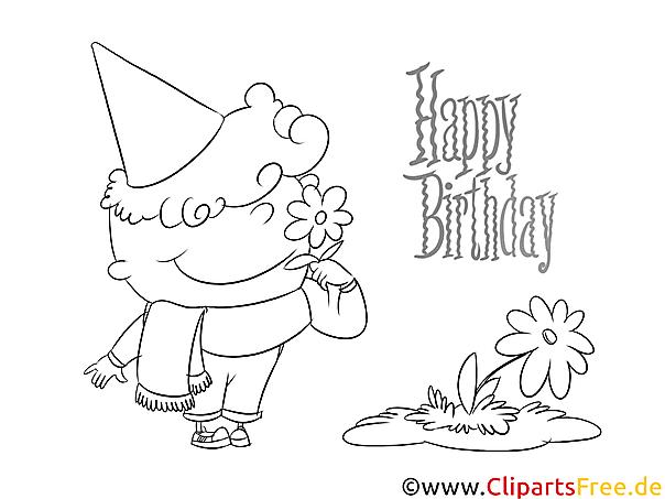 Kolorowanka Urodziny