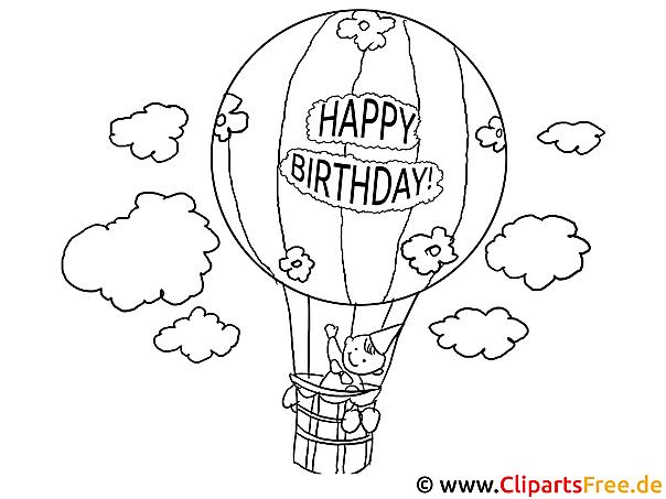 Alles Gute Zum Geburtstag Ausmalbilder : Fantastisch Geburtstag Ballons Malvorlagen Ideen Malvorlagen Von