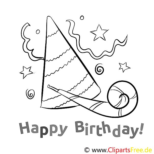 Party Geburtstag Ausmalbild gratis