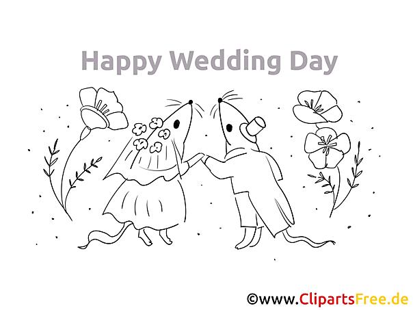 Heiraten Malvorlagen, Bilder kostenlos