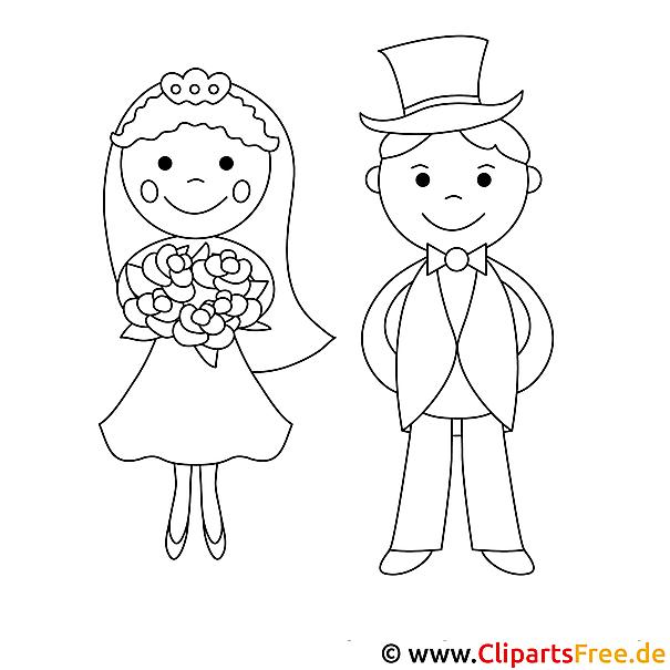Hochzeit Ausmalbild