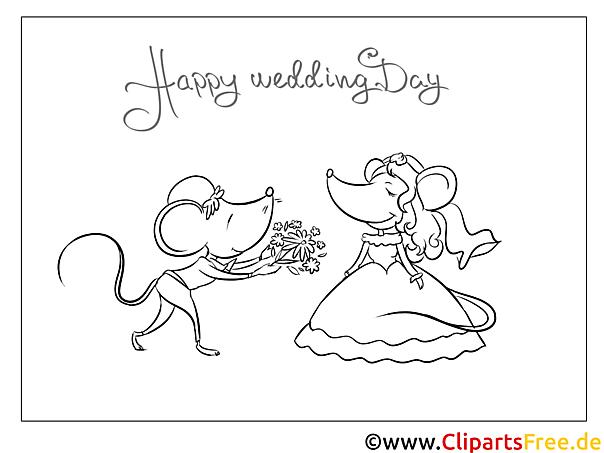 Maus Blumenstrauß Malvorlagen Glбckwбnsche Zur Hochzeit