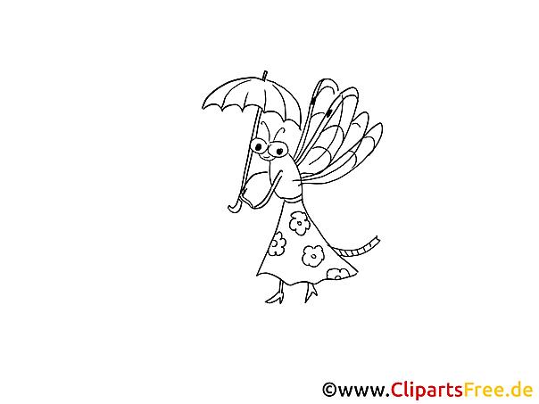 Cartoon Insekt Malvorlage, Bild, Grafik zum Malen