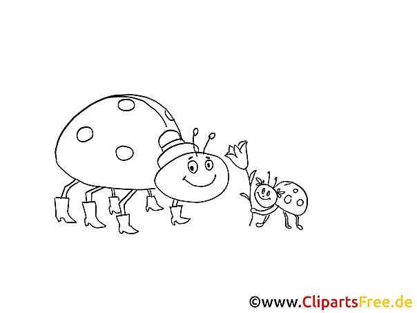 Cartoon Marfienkäfer Malvorlage