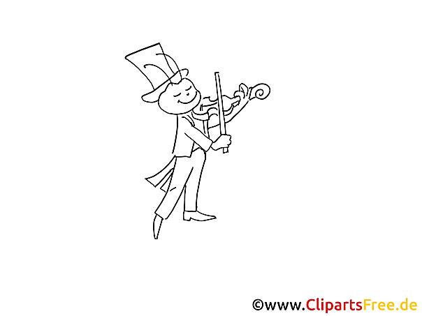 Geige spielen Ausmalbild