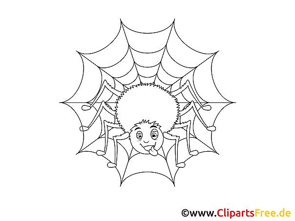 Kinder Kleurplaten Winter Spinne Und Spinnennetz Malvorlage